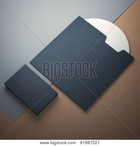 Blank compact disk cover  and business cards