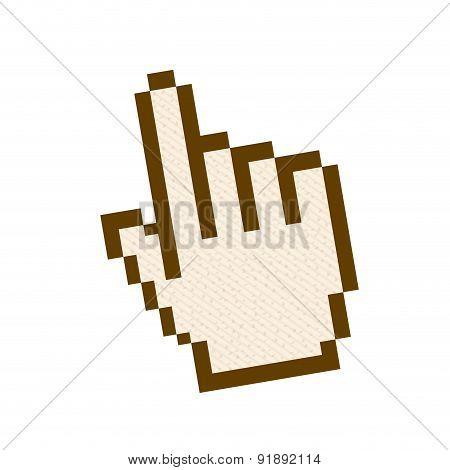 Hand design over white background vector illustration