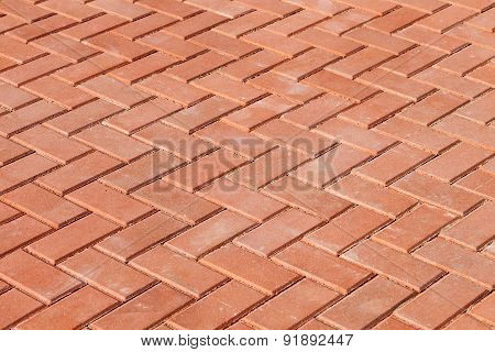 Red Paving Stones As Background
