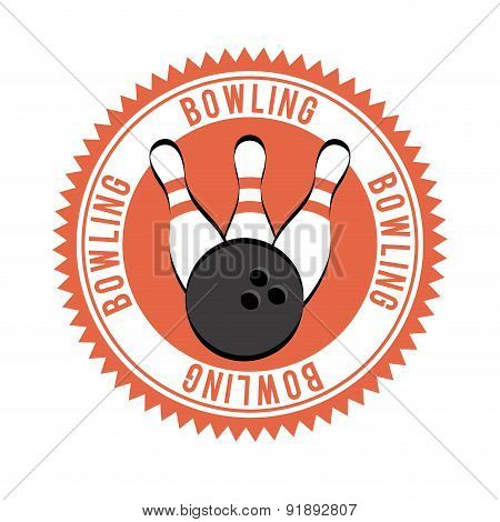 Bowling design over white background vector illustration