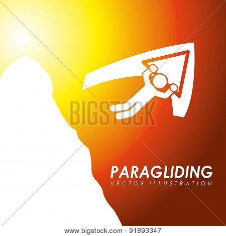 Paragliding design over orange background vector illustration