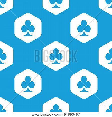 Clubs hexagon pattern