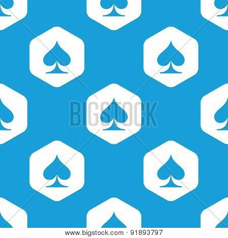 Spades hexagon pattern