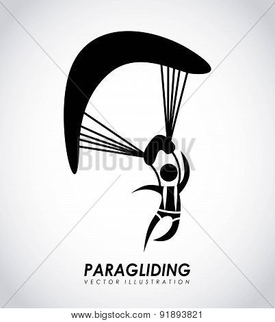 Paragliding design over gray background vector illustration