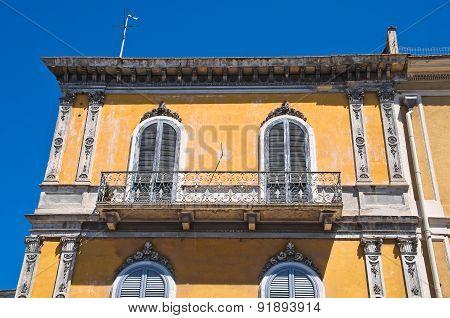 Historical palace. Barletta. Puglia. Italy.
