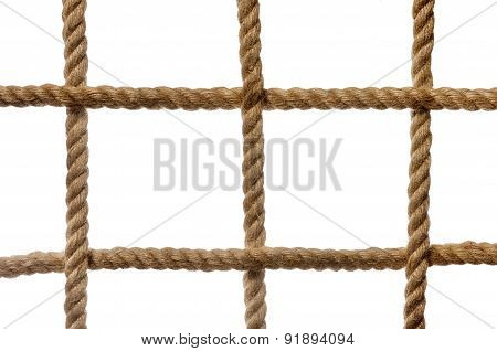The Grid Cells Of Thick Rope As Background