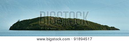 A small island in Mediterranean coast of Bodrum Turkey