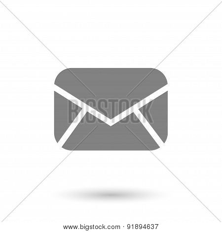 Flat Sealed Envelope Icon
