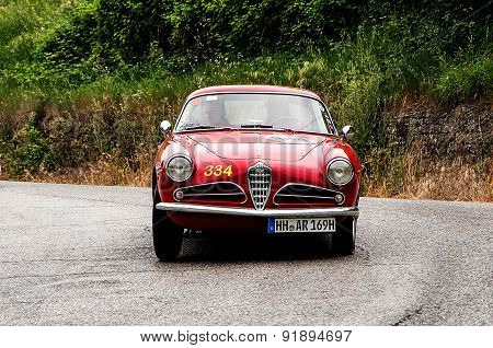 old car ALFA ROMEO 1900 C Super Sprint Touring 1955  mille miglia 2015