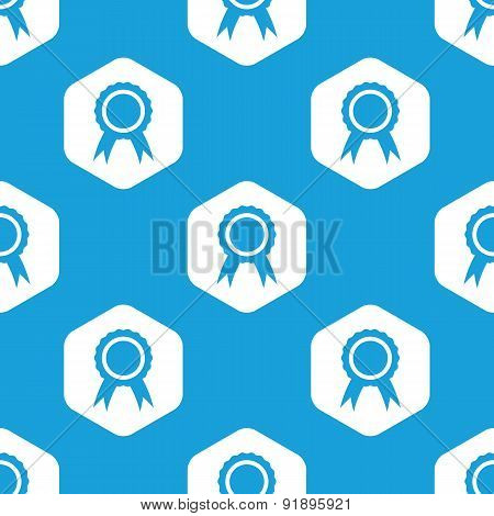 Certificate seal hexagon pattern