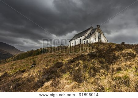 Church Lochailort With Light
