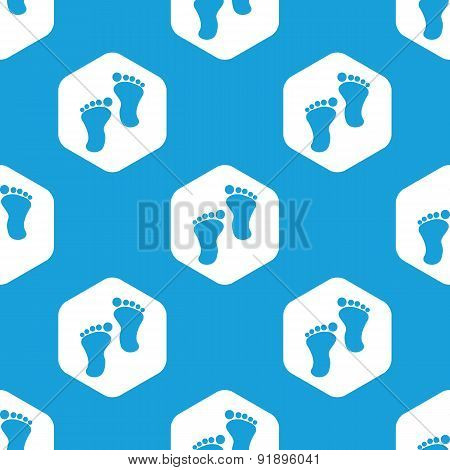 Footprint hexagon pattern