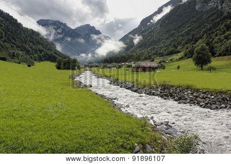 Follow The Creek. (Creek In Switzerland).