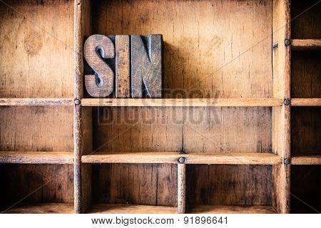 Sin Concept Wooden Letterpress Theme