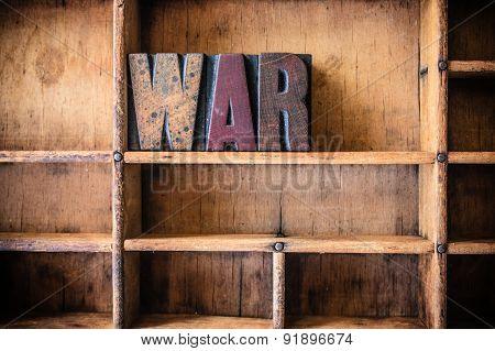 War Concept Wooden Letterpress Theme