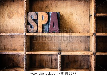 Spa Concept Wooden Letterpress Theme Concept Wooden Letterpress Theme