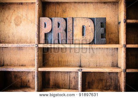 Pride Concept Wooden Letterpress Theme