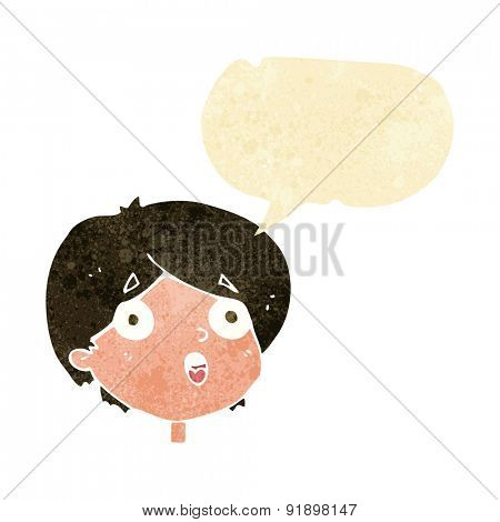 cartoon amazed expression with speech bubble