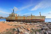 stock photo of shipwreck  - Cyprus  - JPG
