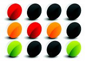 image of traffic rules  - Traffic lights Traffic lamps isolated on white - JPG