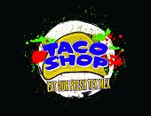 picture of tacos  - Taco Shop Logo for use in a design for a restaurant or taco vendor - JPG