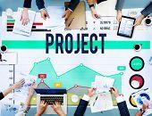 stock photo of enterprise  - Project Enterprise Team Progress Strategy Concept - JPG