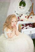 pic of faerie  - Outdoor portrait of cute little girl in princess dress - JPG