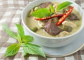 picture of curry chicken  - Thai Green Curry with Eggplant Chicken and Coconut Milk One of The Most Famous Curry Recipes in The World - JPG