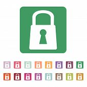 picture of lock  - The lock icon - JPG