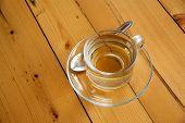 picture of darjeeling  - cup of tea on wooden background  - JPG