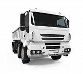 image of dump_truck  - Tipper Dump Truck isolated on white background - JPG