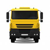 picture of dump-truck  - Yellow Tipper Dump Truck isolated on white background - JPG