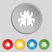 pic of disinfection  - Software Bug Virus Disinfection beetle icon sign - JPG