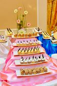 image of banquet  - Many cupcakes are in plate on banquet - JPG