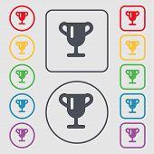 foto of winner  - Winner cup Awarding of winners Trophy icon sign - JPG