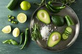 pic of cucumber slice  - Sliced avocado - JPG