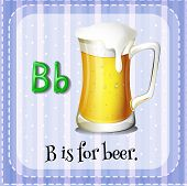 image of letter b  - Flashcard letter B is for beer - JPG