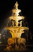 stock photo of cupid  - Night photo of Eros fountain  - JPG