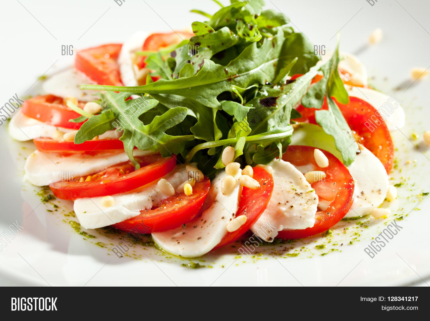 Caprese Salad - Salad Tomatoes, Image & Photo | Bigstock