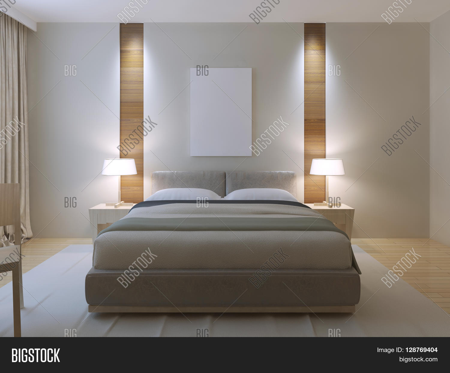 Modern master bedroom design image photo bigstock for Bedroom designs with attached bathroom and dressing room