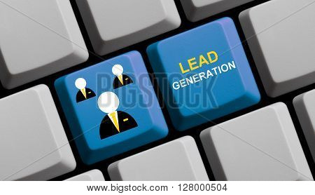Computer Keyboard with symbol is showing Lead Generation