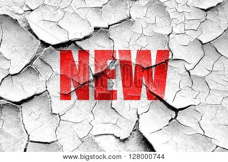 Grunge cracked New sign background