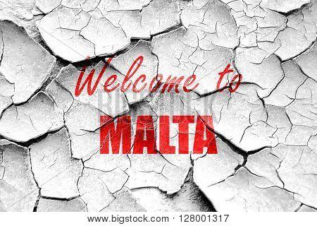 Grunge cracked Welcome to malta