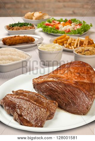 Filet Steak. Picanha Brazilian Barbecue.
