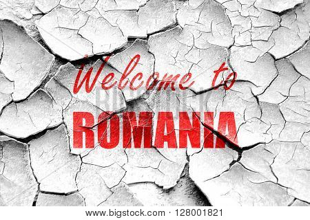 Grunge cracked greetings from romania