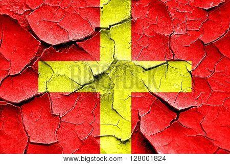 Grunge cracked Romeo maritime signal flag