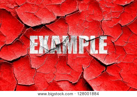 Grunge cracked example sign background
