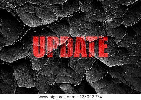 Grunge cracked update sign background