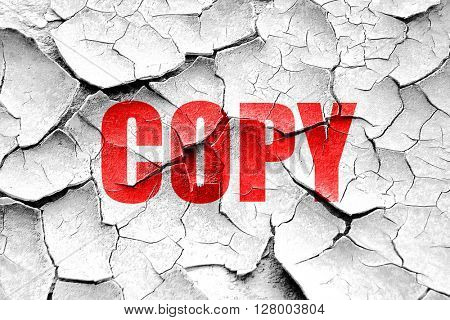 Grunge cracked copy sign background