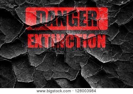 Grunge cracked apocalypse danger background